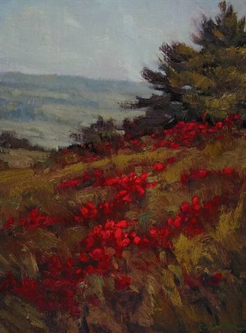 poppies (sold) by carolyn walton