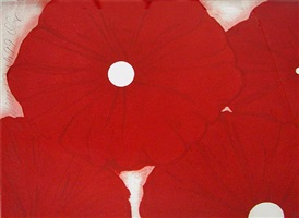four red flowers may 17, 1999 by donald sultan