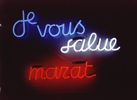 unique: je vous salue marat by ian hamilton finlay