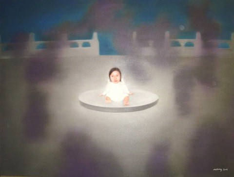 baby no. 10 -- oil on canvas by ma liuming