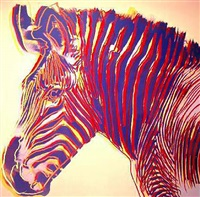 endangered species: zebra by andy warhol