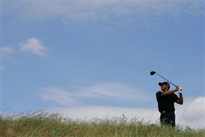 tiger woods, the british open, st.andrews, july, 2005 by neil leifer