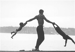 jacques d'amboise playing with his sons, seattle, washington, 1962 by john dominis ©time inc by life photographers
