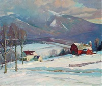mount mansfield, vermont by aldro thompson hibbard