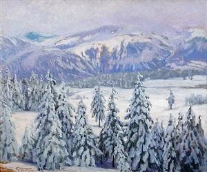 the white silence, montana by william samuel horton