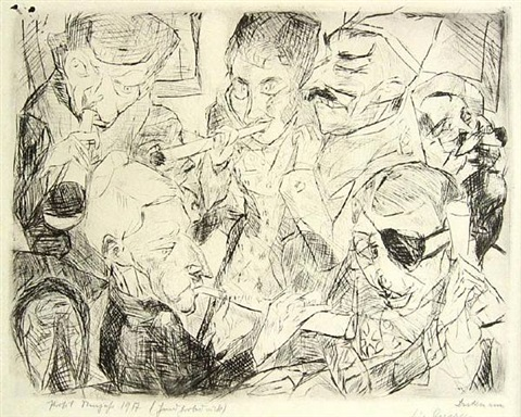 prosit neujahr (happy new year) by max beckmann