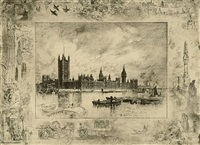 westminster palace by félix hilaire buhot