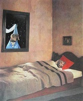 in bed by william wegman
