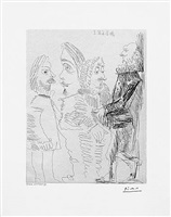 quatre hommes en costume rembranesque, from the 347 series, 30 march, 1968, mougins by pablo picasso