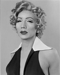 self-portrait - after marilyn monroe by yasumasa morimura
