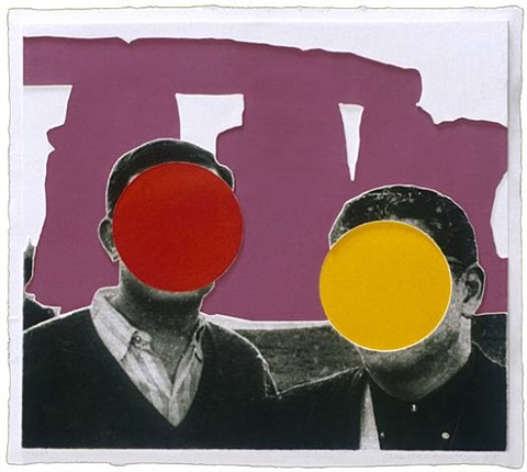 stonehenge (with two persons) violet by john baldessari