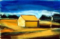 landscape with house by albert kresch
