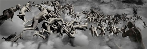 the last judgement in cyberspace - vertical view by miao xiaochun