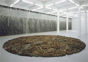 bark circle by richard long
