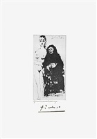 maja et celestine, from the 347 series, 27 may, 1968, mougins by pablo picasso