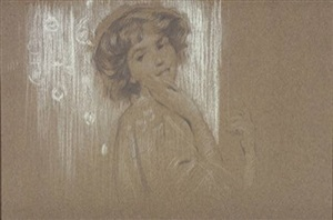 <b>philip leslie hale</b><br>sketch of a young woman (sold)