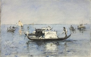 <b>robert frederick blum</b><br>on the lagoon, venice (sold)