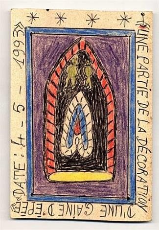 une partie de la décoration d´une gaine d´épée (i) by frédéric bruly bouabré
