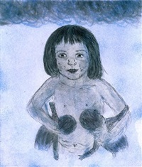 billie (girl with dolls) by kiki smith