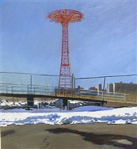 parachute jump by andrew lenaghan