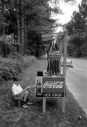 little boy selling coca-cola, atlanta by alfred eisenstaedt