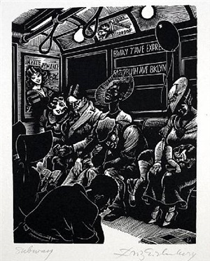 subway by fritz eichenberg
