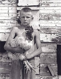 eric with spike the rooster by shelby lee adams