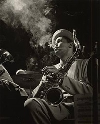 dexter gordon, royal roost, new york city by herman leonard