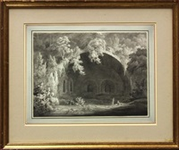 ruins of roman thermal baths by john r dugmore