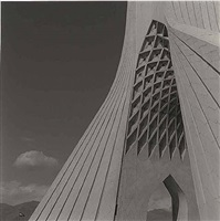 azadi tower, tehran, iran by lynn davis