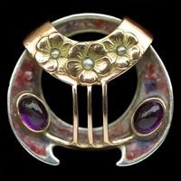 superb secessionist brooch by theodor fahrner (co.)