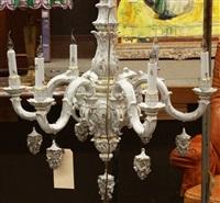 chandelier by von schierholz porzellanmanufaktur
