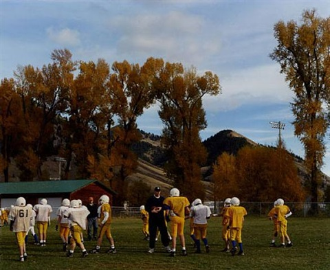 autumn football<br>wilson, wyoming by lisa eisner