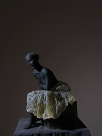 untitled (seated figure) by nicolas africano