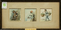 three portraits (3 works) by alfred heber hutty