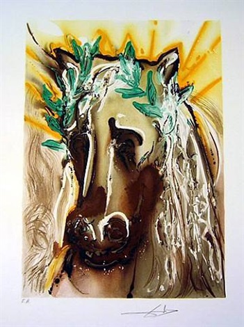 dalian horses by salvador dalí