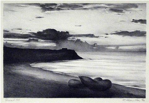 sunset(f)-lithograph by richard hamilton
