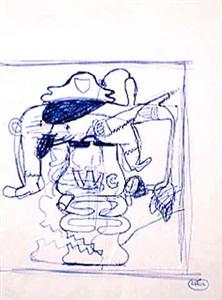 untitled (valda sherman study) by peter saul