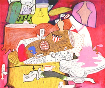 untitled (log/ham) by peter saul