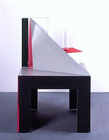 table with tray by thomas scheibitz