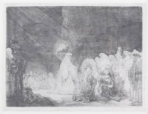 the presentation at the temple: simeon's hymn of praise by rembrandt van rijn