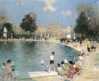 <i>the tuilleries gardens, paris</i> by jules rené hervé