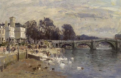<i>richmond bridge</i> by edward seago