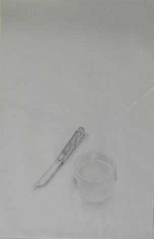 kleine weisse schale und messer by meret oppenheim