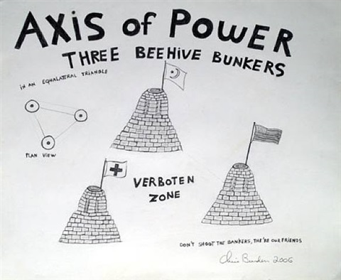 axis of power three beehive bunkers by chris burden