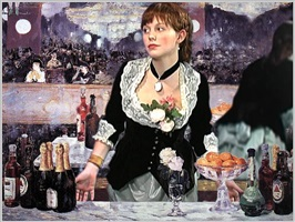 a bar at the folies bergere (after manet) by wafaa bilal