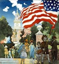 philadelphia patriotic scene by frank godwin