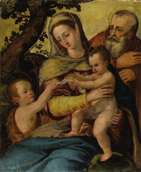 holy family with saint john the baptist by agnolo bronzino