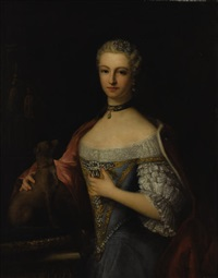 portrait of the duchess of montmorency by louis tocqué