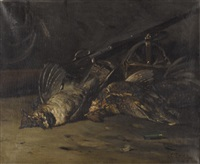 still life of game birds by lawrence carmichael earle